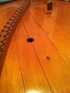 Restoration - Bechstein soundboard close-up