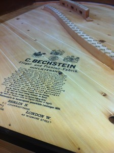 Restoration - Bechstein soundboard repaired